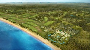 Mazagan Beach Resort, aerial